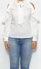 white cold shoulder blouse laura of pembroke spring and summer style trends