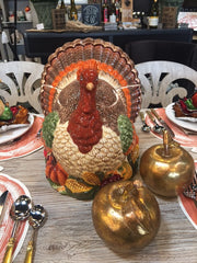 laura of pembroke table setting for fall turkey