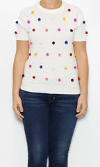 Kate spade new york pom pom top laura of pembroke