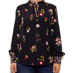 kate spade new york In Bloom Ruffle Silk Top