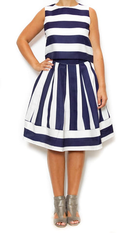blue and white stripes top and skirt laura of pembroke