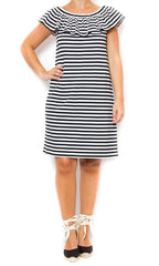 striped kate spade new york ruffle dress laura of pembroke