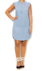 denim ruffle dress laura of pembroke
