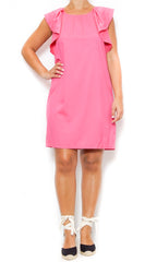 pink ruffle dress laur aof pemroke spring and summer trends