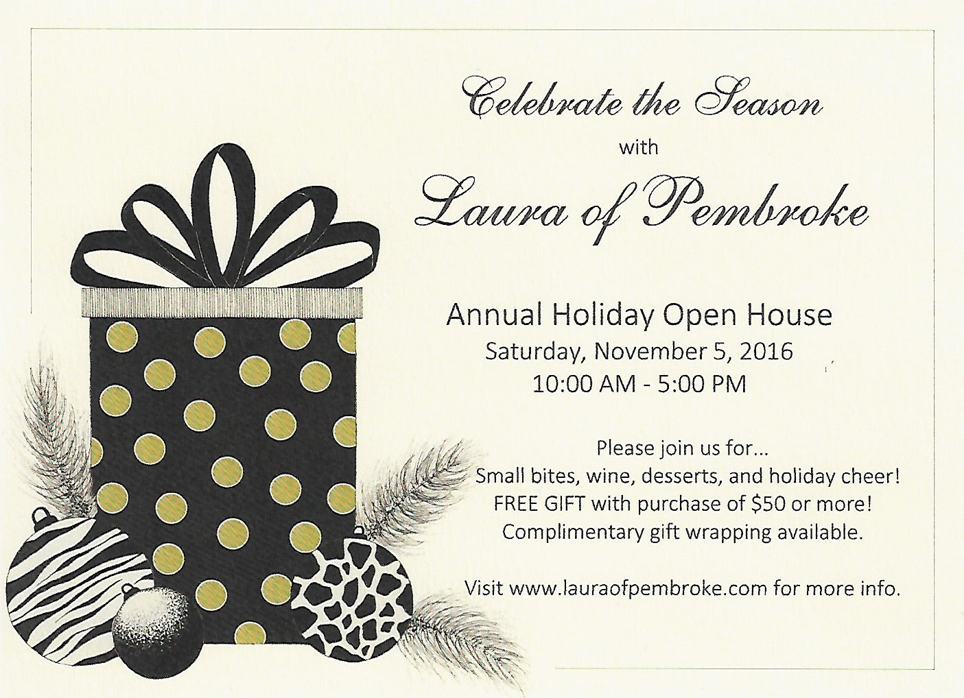 Laura of Pembroke Holiday Open House 2016