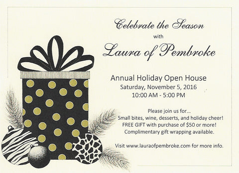 laura of pembroke holiday open house saturday november 5 2016
