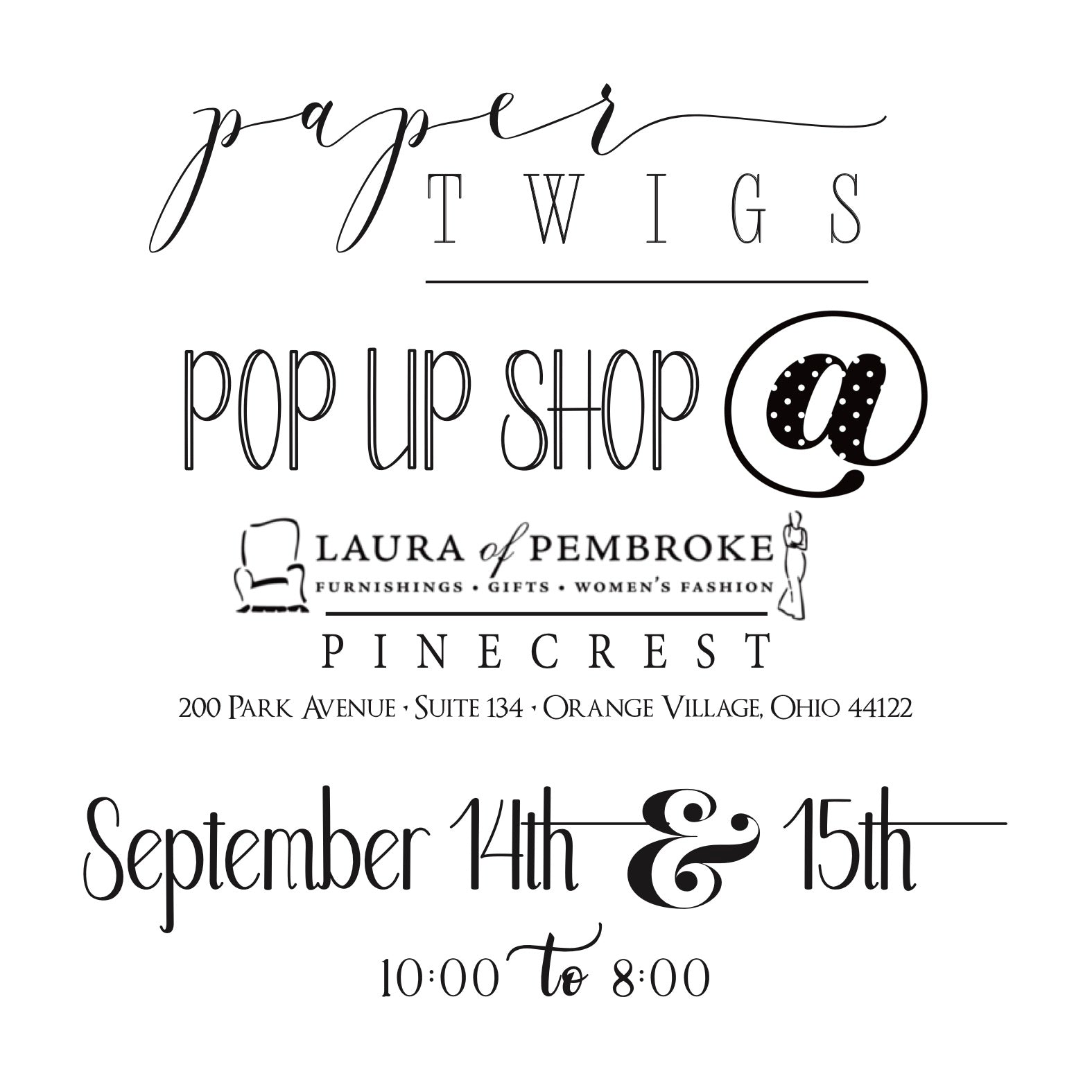 Paper Twigs and Laura of Pembroke Pop Up Shop
