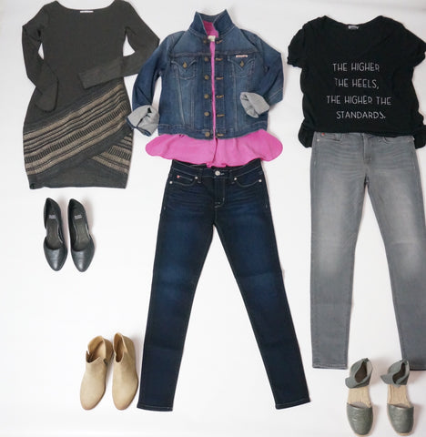 bailey dress hudson jean jacket hudson jeans laura of pembroke capsule wardrobe fall fashion