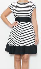 laura of pembroke black and white striped dress party season is here