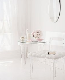 lucite chair and side table laura of pembroke