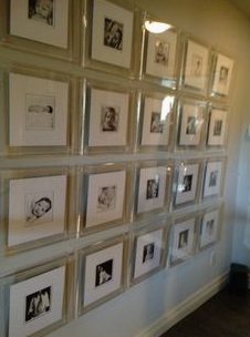 lucite frame gallery wall