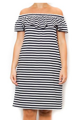 striped ruffle off the shoulder kate spade new york dress laura of pembroke