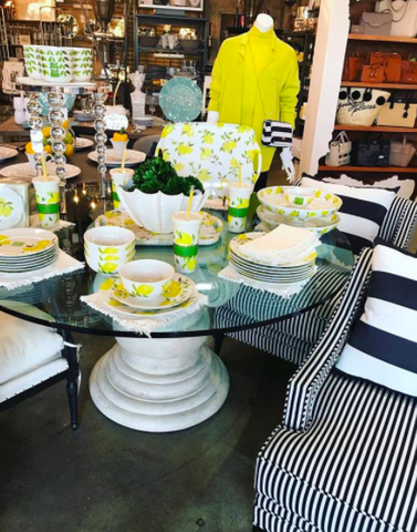 lemon inspired dinnerware