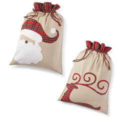 laura of pembroke holiday decorating santa sacks