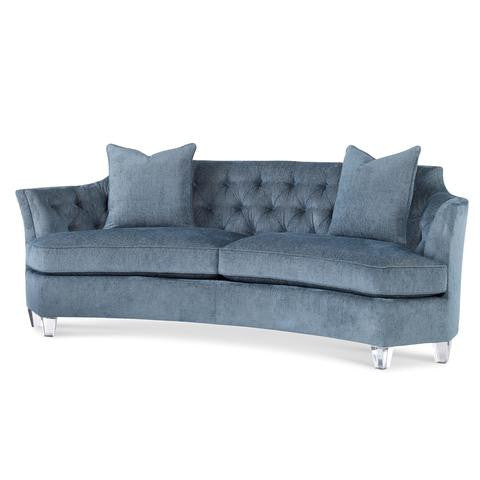 sofa with lucite legs laura of pembroke
