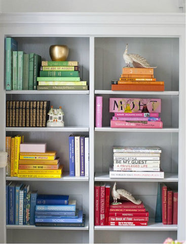 colorful objects to decorate shelves laura of pembroke bookshelf styling