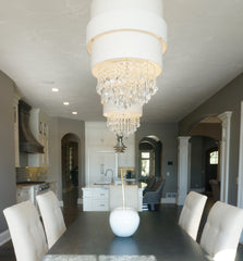 chrystal chandelier with shade laura of pembroke lighting