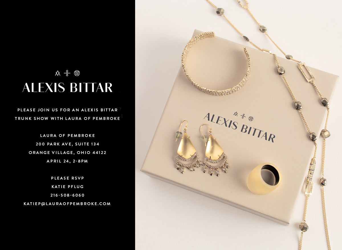 Alexis Bittar Jewelry Trunk Show at Laura of Pembroke