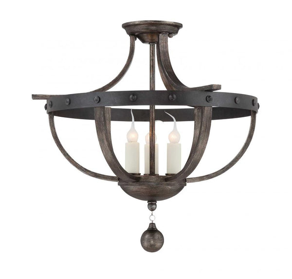 Reclaimed Wood Semi-Flush Mount, Lighting, Laura of Pembroke