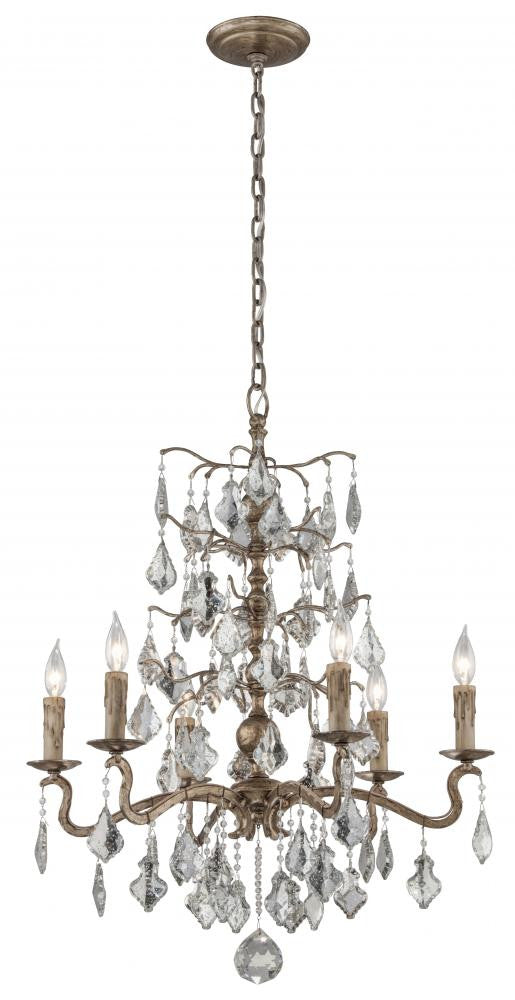 Vienna Bronze 6 Light Chandelier, Lighting, Laura of Pembroke