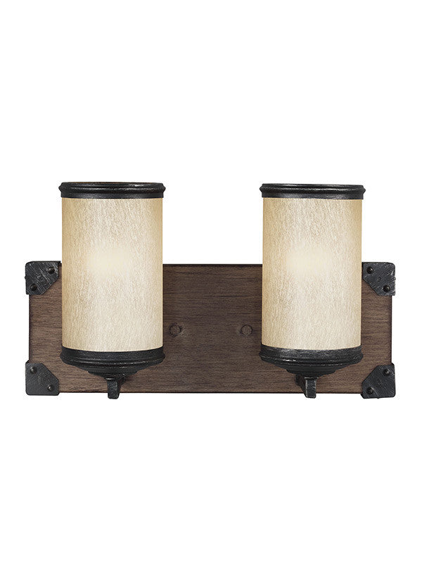 Rustic Wood 2 Light Wall Sconce, Lighting, Laura of Pembroke