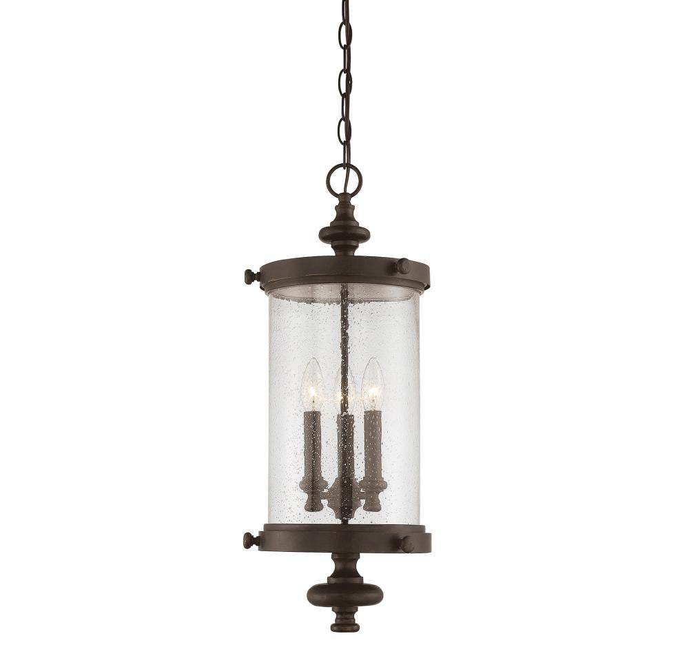 Walnut Outdoor 3 Light Hanging Lantern, Lighting, Laura of Pembroke