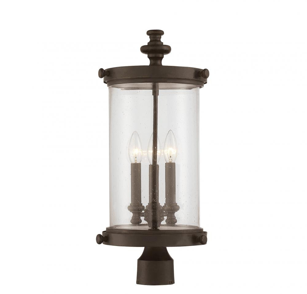 Walnut Outdoor 3 Light Post Lantern, Lighting, Laura of Pembroke