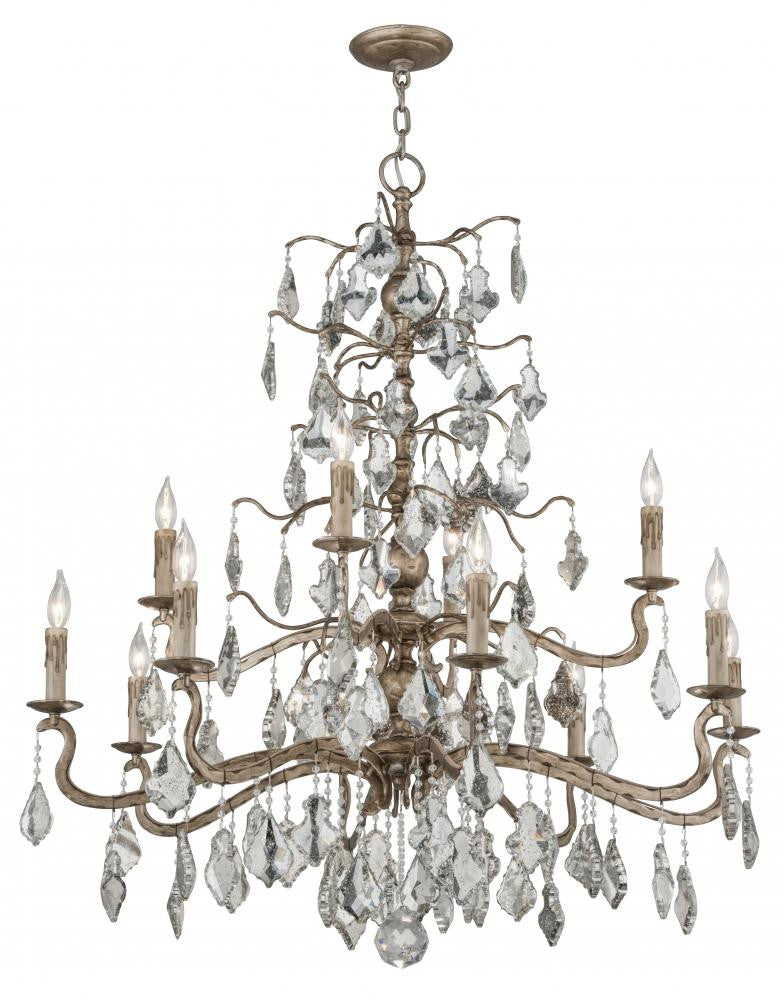 Vienna Bronze 12 Light Chandelier, Lighting, Laura of Pembroke