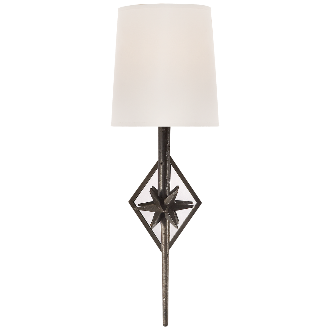 Aged Bronze Star Sconce