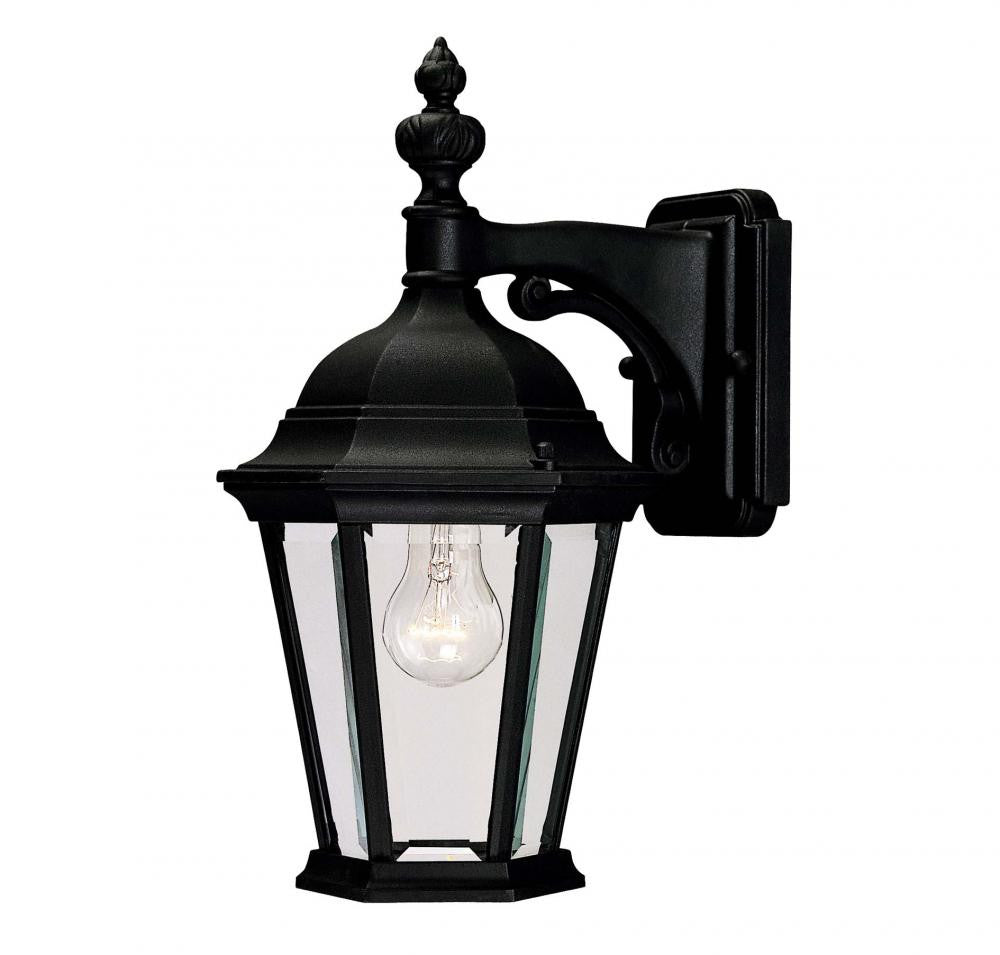 Textured Black Outdoor 1 Light Wall Lantern, Lighting, Laura of Pembroke