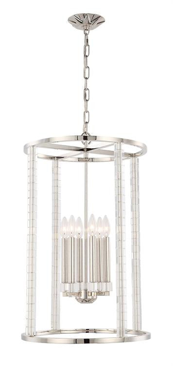 Polished Nickel 6 Light Chandelier, Lighting, Laura of Pembroke