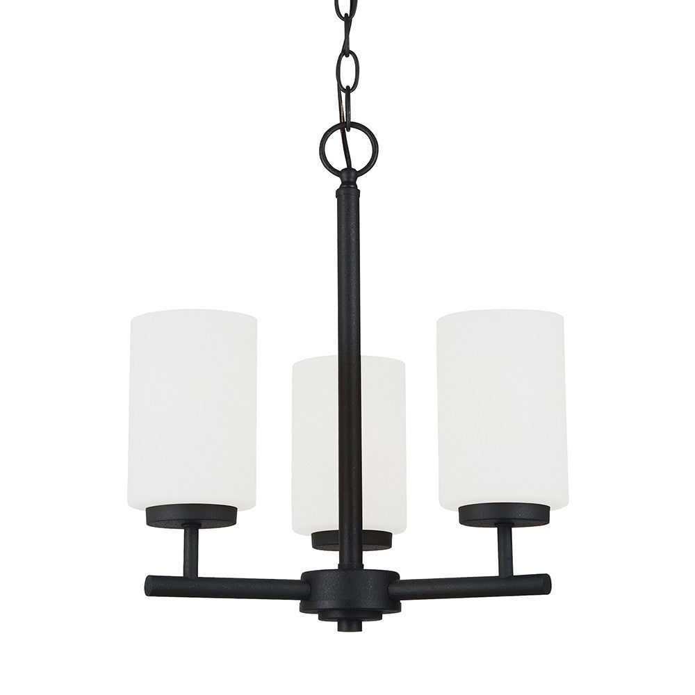 Sleek Blacksmith 3 Light Chandelier, Lighting, Laura of Pembroke