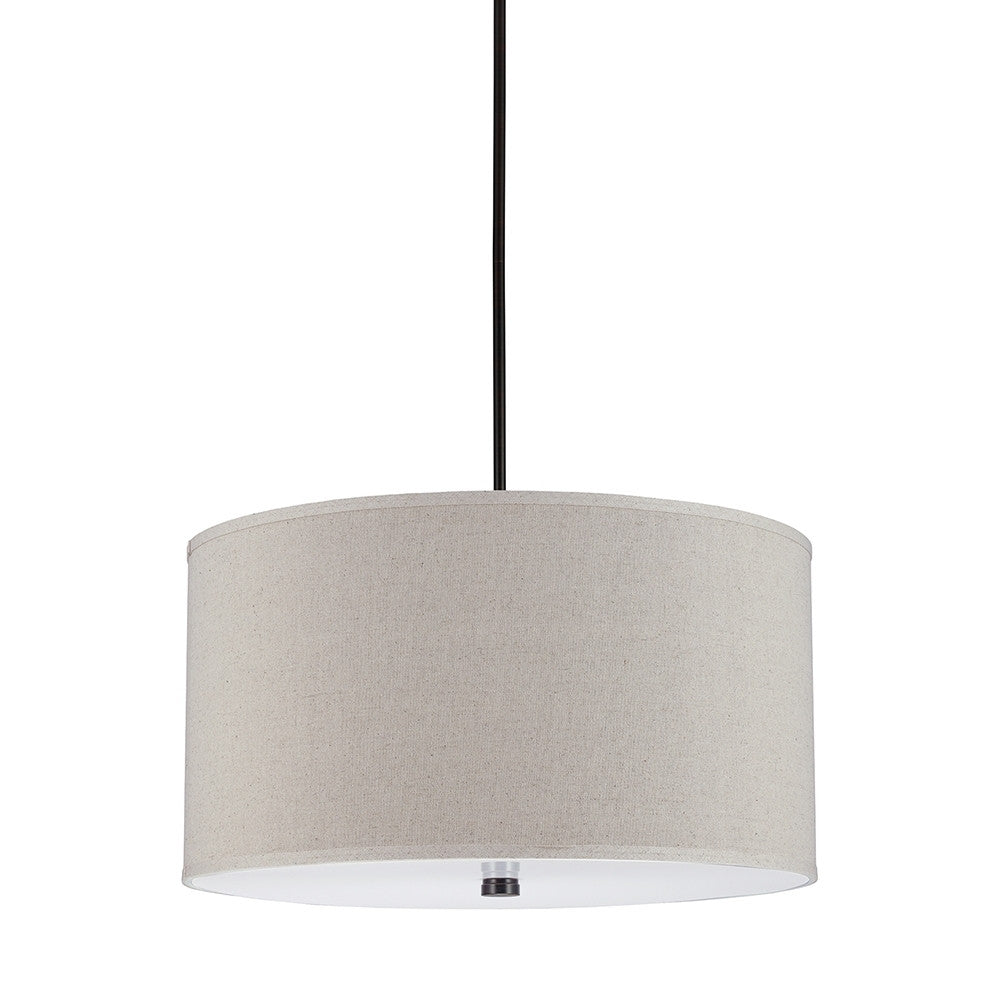 Drum Shade Pendant with Diffuser, Lighting, Laura of Pembroke