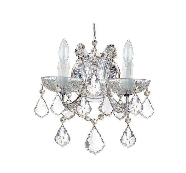 2 Light Crystal Sconce, Lighting, Laura of Pembroke