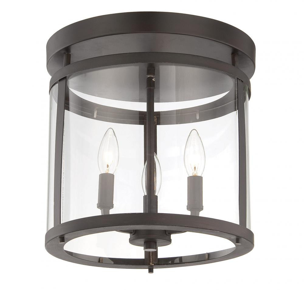 English Bronze Semi-Flush Mount, Lighting, Laura of Pembroke
