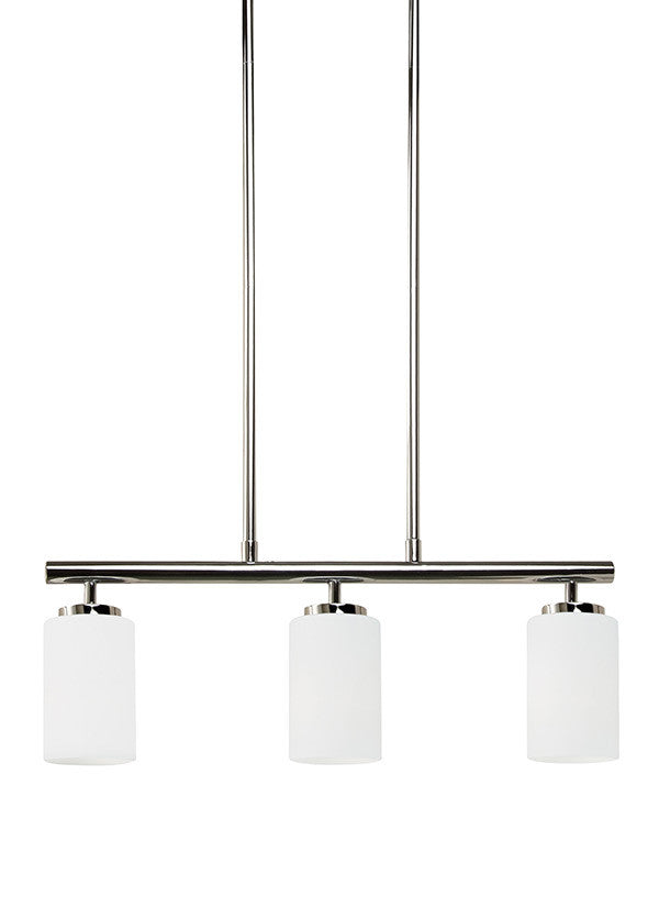 Sleek Chrome 3 Light Island Pendant, Lighting, Laura of Pembroke