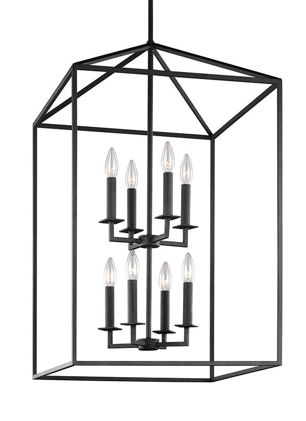 Blacksmith Finish 8 Light Chandelier, Lighting, Laura of Pembroke