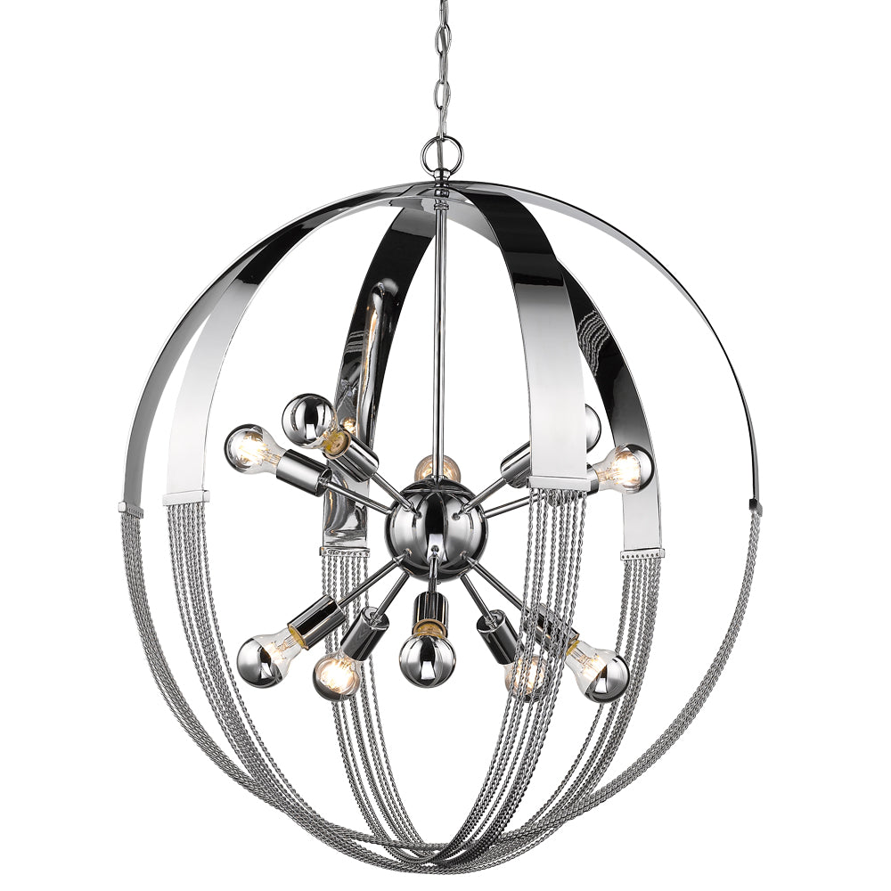 Carter 10 Light Pendant in Chrome, Lighting, Laura of Pembroke