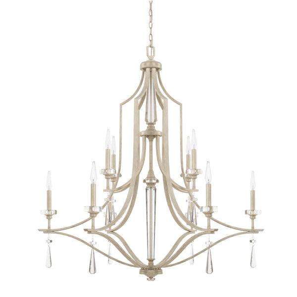 Serena Winter White Crystal 10 Light Chandelier