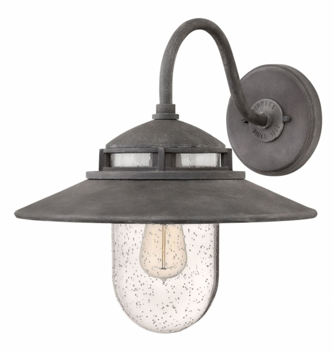 Aged Zinc Atwell Outdoor Medium Wall Mount, Lighting, Laura of Pembroke