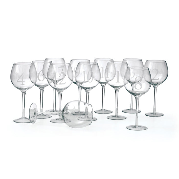 Numerology Wine Glasses, Gifts, Laura of Pembroke