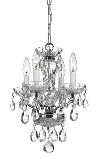 4 Light Crystal Mini Chandelier, Lighting, Laura of Pembroke
