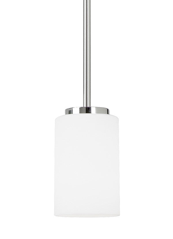 Sleek Chrome 1 Light Mini Pendant, Lighting, Laura of Pembroke