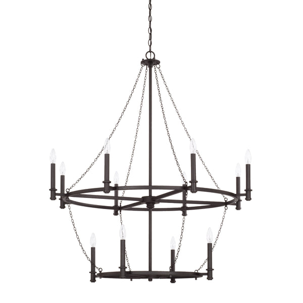 Lancaster Black Iron 12 Light Chandelier