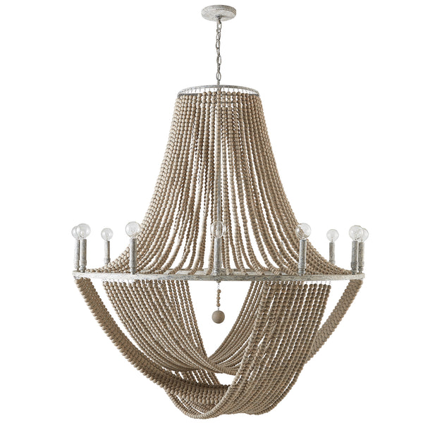 Kayla Mystic Sand Coastal 12 Light Chandelier