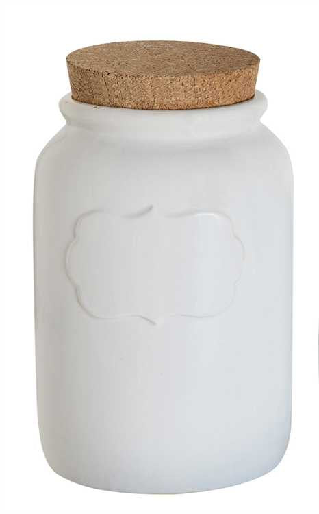 White Ceramic Canister, Gifts, Laura of Pembroke