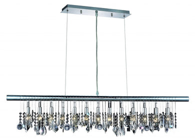 13 light chrome chandelier