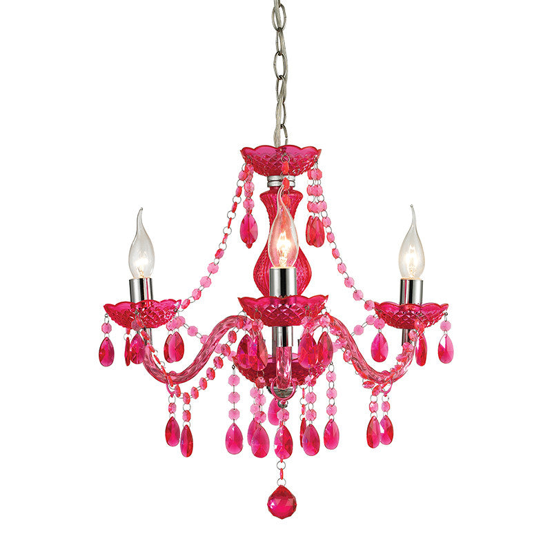 Pink Mini Chandelier, Lighting, Laura of Pembroke