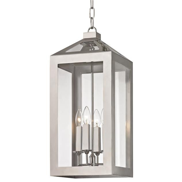 4 Light Polished Nickel Chandelier