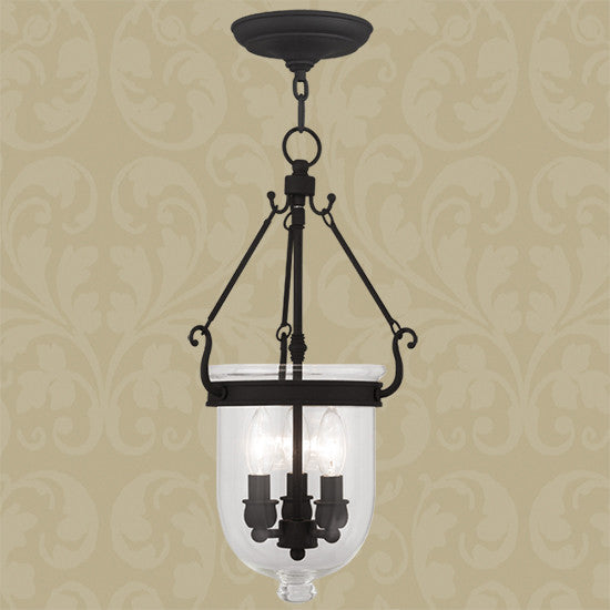 Black 3 Light Ceiling Mount